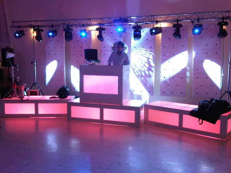 Mariage thme lumire dcoration mariage lumineux tables