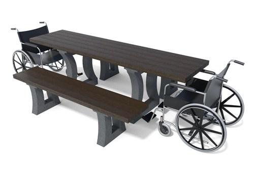 - Table de pique-nique adaptée aux pmr ARIZONA ESPACE URBAIN