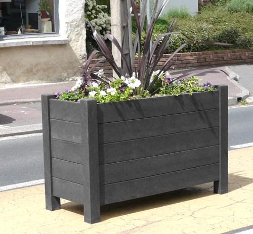 jardiniere rectangulaire modernes en plastique 100% recycle imputrescible et sans entretien - Jardinières AVENUE rectangulaires ESPACE URBAIN