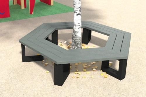 - Banquette tour d'arbre hexagonal ESCAPADE Junior ESPACE URBAIN