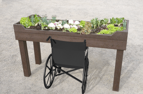 table de plantation pmr en plastique recycle sans entretien - TABLE DE PLANTATION PMR ESPACE URBAIN