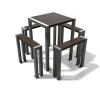 Elegance Table Haute 4 Places Vignette 200px