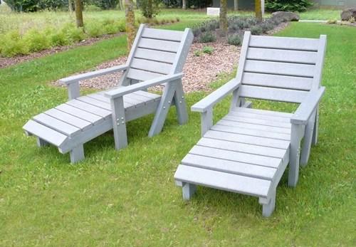 chaise longue en plastique recycle avec accoudoirs - Chaise longue confort ÉQUATEUR ESPACE URBAIN