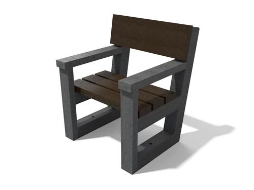 fauteuil en plastique 100% recycle - Fauteuil ESCAPADE ESPACE URBAIN