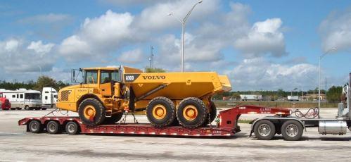 Lowboy Freight trailer