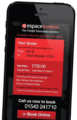 The Espace Freight Calculator