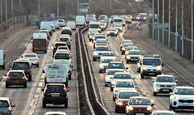 Traffic on a dual carriageway