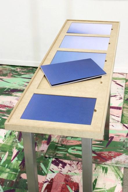 Bonny Thomas, Sans titre, 1997, sol re?cupe?re? au Walden / La Vague Bleue, re?-e?dition ( 2015), installation, bois, metal, 2015