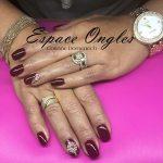 ongles bijoux sur extension gel