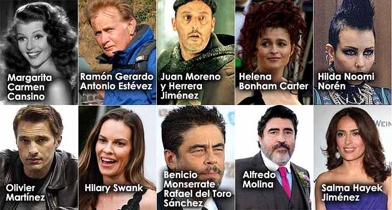 Estrellas del cine hijos de españoles