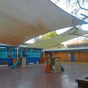 Cubierta tensada Fundación Educacional Colegio El Salvador