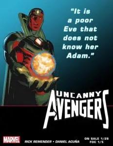 Teaser de la Visión para Uncanny Avengers