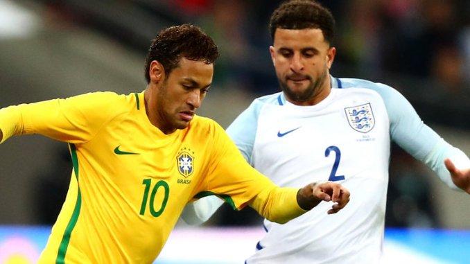 Inglaterra 0-0 Brasil, Neymar y Kyle Walker
