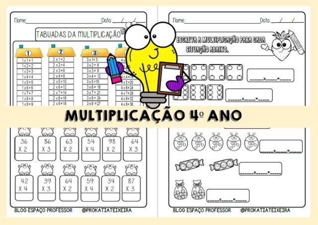 Atividades de multiplicação para baixar em PDF