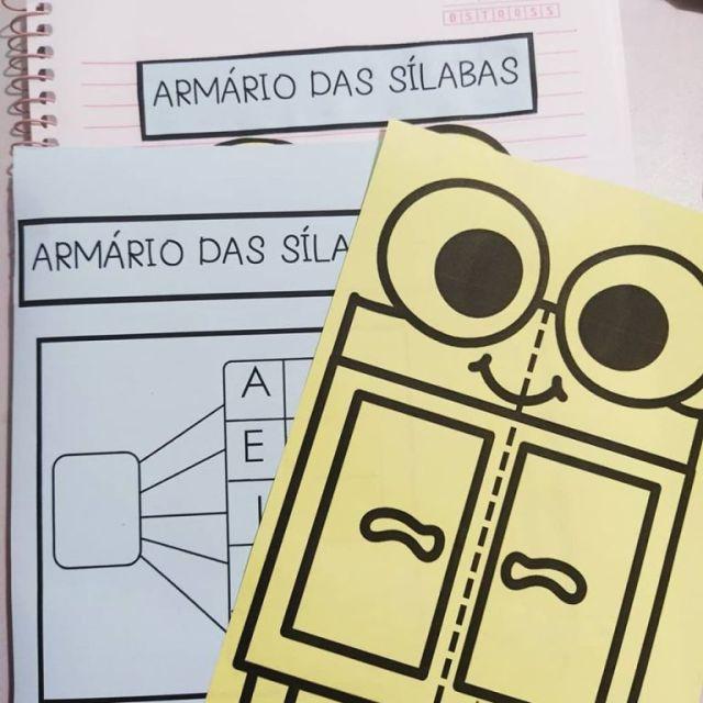 Armário das sílabas. Atividade interativa para formar sílabas