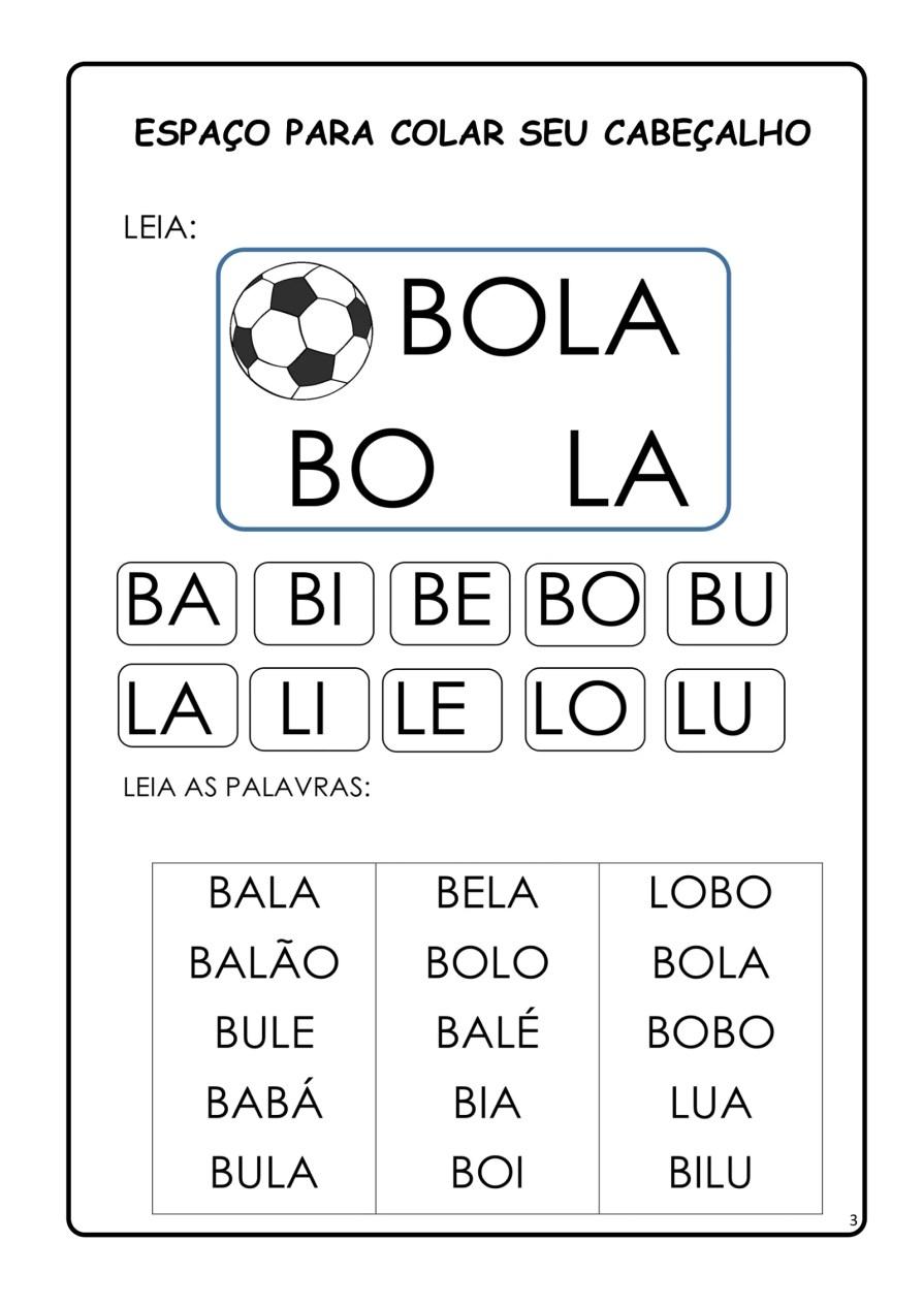 APOSTILA-DE-ALFABETIZAÇÃ-PARA-BAIXAR-03 14 Atividades de alfabetização letra B