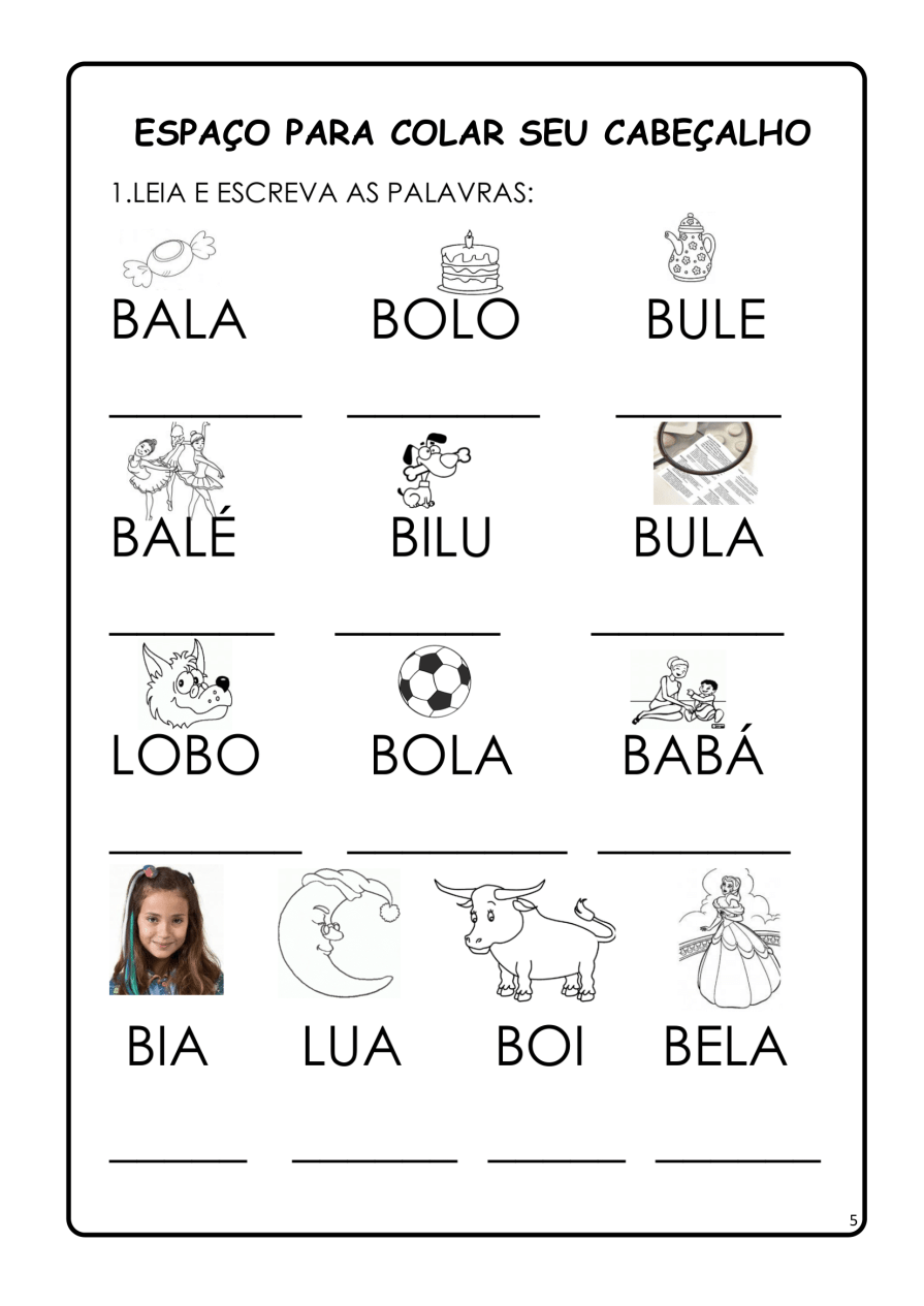 APOSTILA-DE-ALFABETIZAÇÃ-PARA-BAIXAR-05 14 Atividades de alfabetização letra B