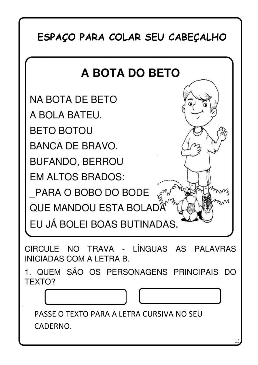 APOSTILA-DE-ALFABETIZAÇÃ-PARA-BAIXAR-13 14 Atividades de alfabetização letra B