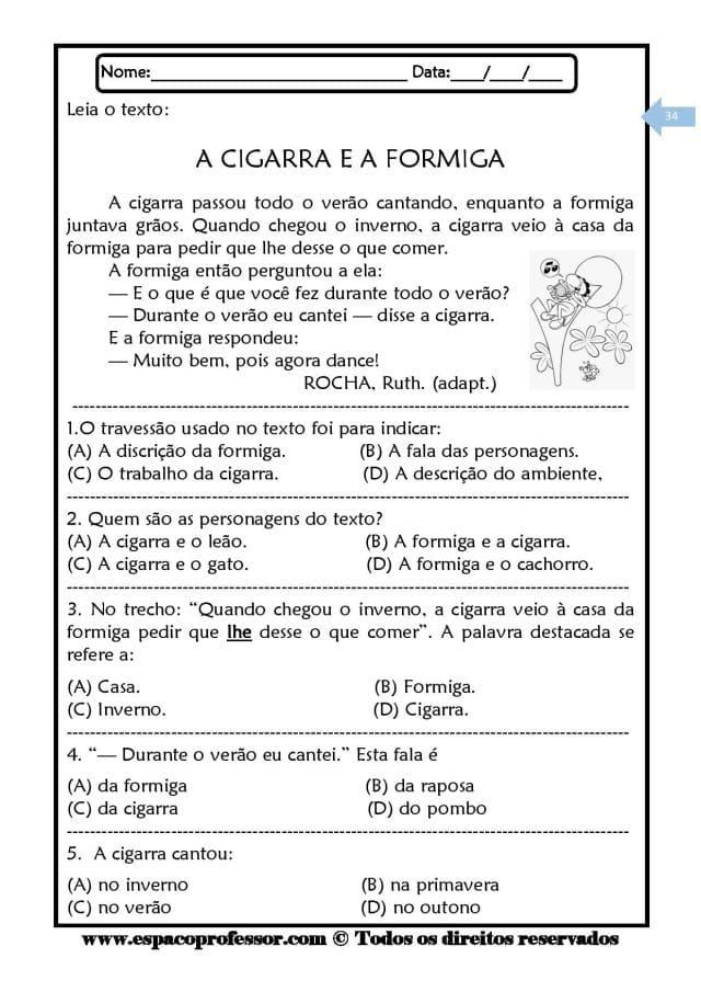 Caderno-de-Leitura-e-Interpretação-de-textos-ciclo-complementar-page-034 20 Atividades de leitura e interpretação para o 5º ano