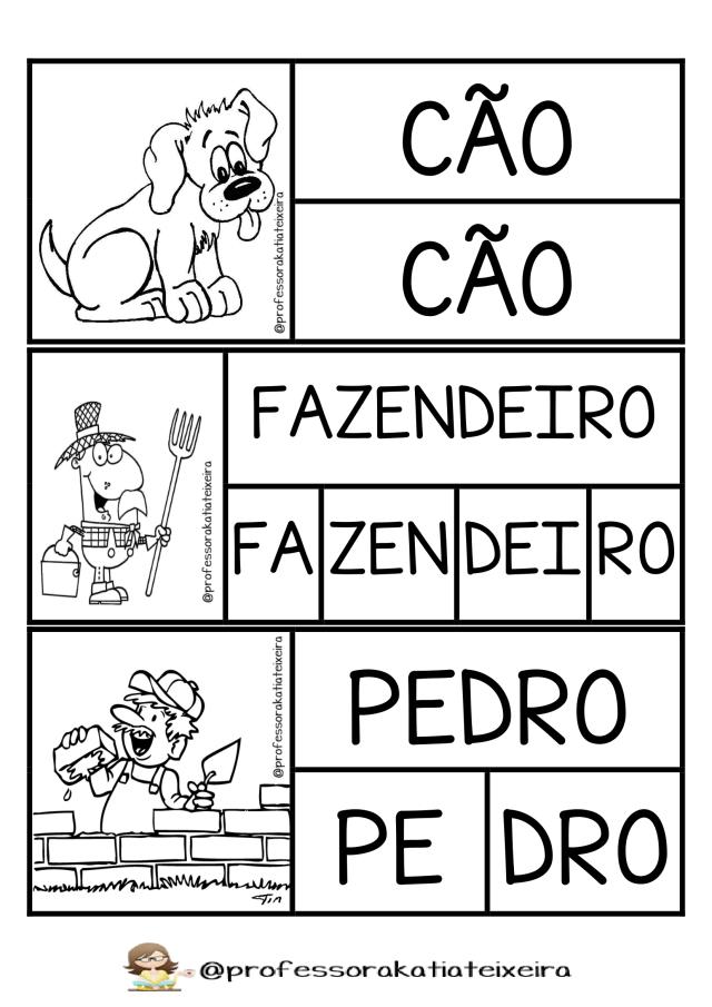Sequência A casa que Pedro Fez: Jogo palavras e sílabas