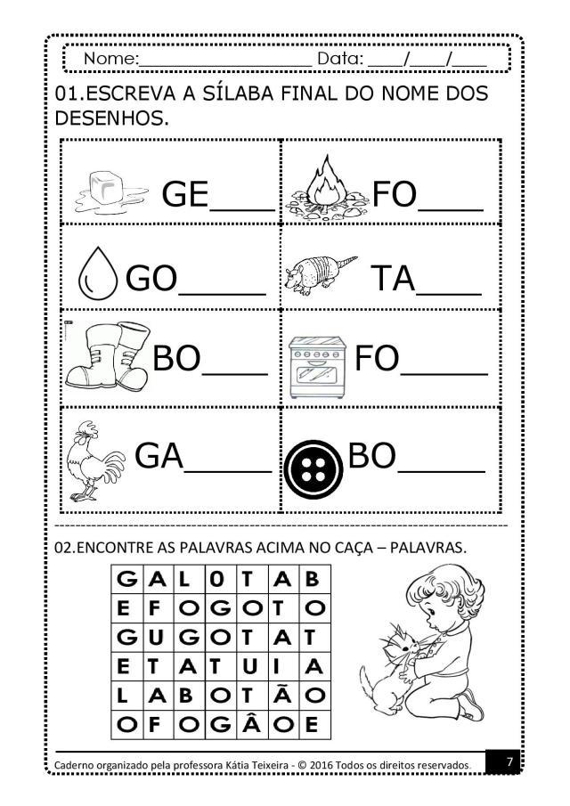 PROJETO-DE-AL-PALAVRA-GATO-page-007 Atividades para baixar projeto de alfabetização palavra  gato