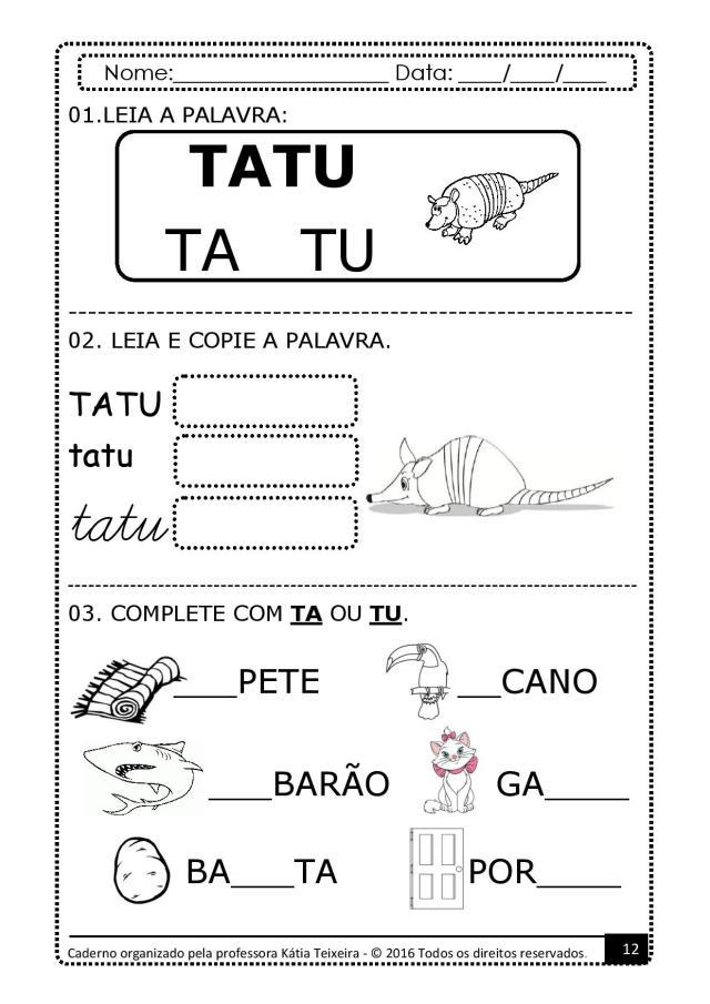 PROJETO-DE-AL-PALAVRA-GATO-page-012 Atividades para baixar projeto de alfabetização palavra  gato