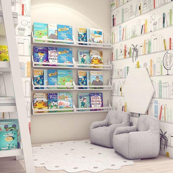Sugestões-para-cantinhos-de-leitura-17 30 Sugestões para cantinhos de leitura em casa ou na escola