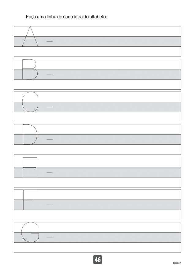 VOLUME1-46 49 Atividades de caligrafia letra bastão