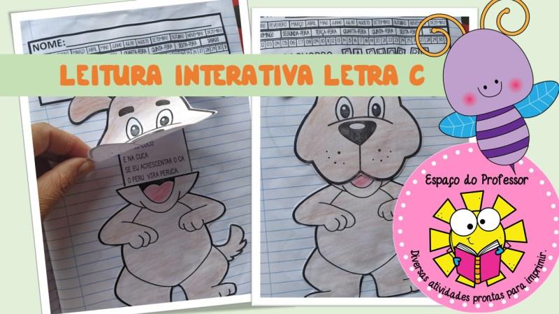 Atividade de Alfabetização interativa letra C para baixar