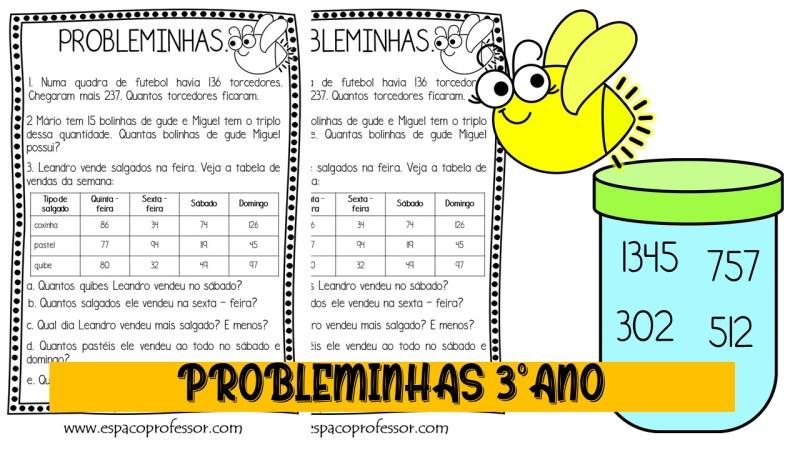 Problemas de matemática 3º ano em pdf. Atividade 3º ano