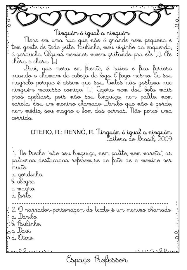 Apostila de atividades de português e matemática 4º ano grátis