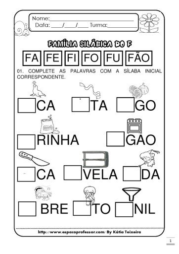 Atividades sílaba inicial letras B, C, D, F, G 5