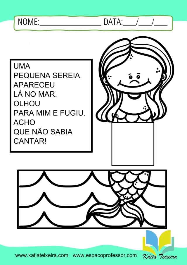Atividades de português 1º ano  com leitura interativa:  alfabetização
