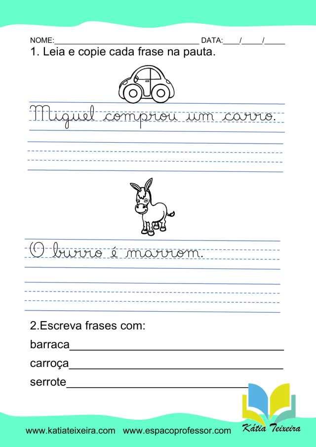 Atividades de português 2º ano: atividade RR interativa