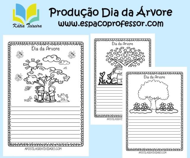 Atividades de produção de texto Dia da Árvore