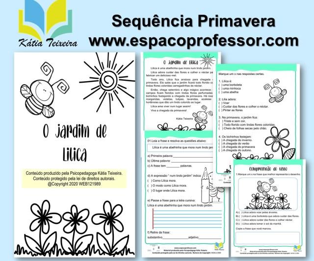 Sequência de Atividades primavera -atividades de português