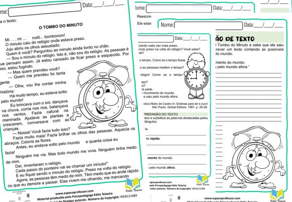 Atividades de interpretação de texto 5º ano -  português 5º ano