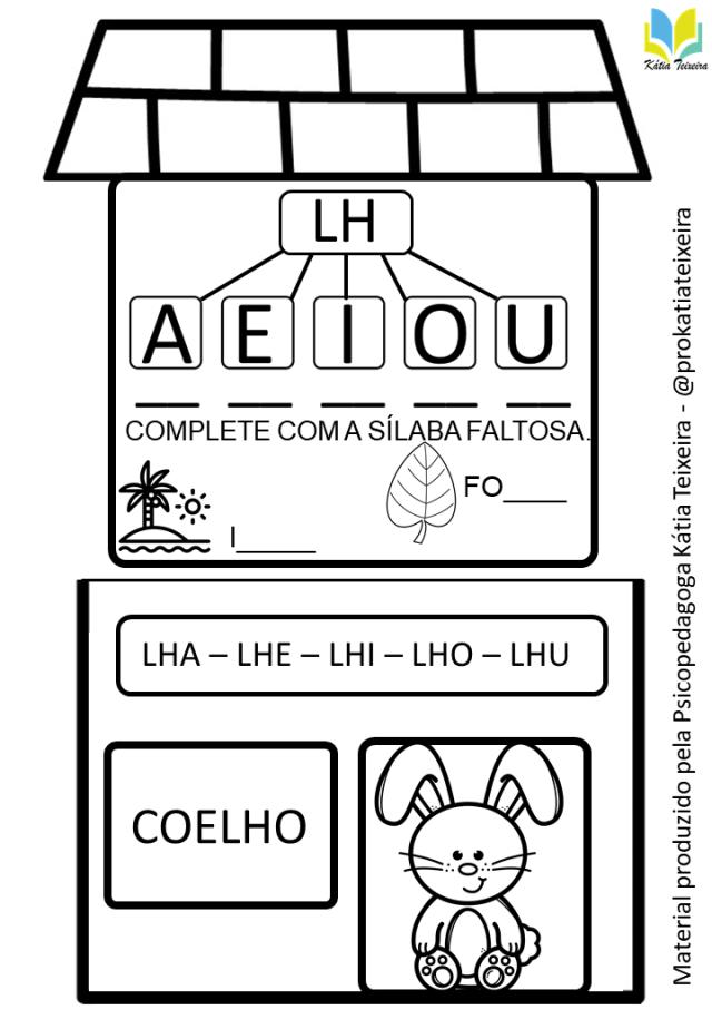 A casa do LH- atividade interativa sílabas complexas
