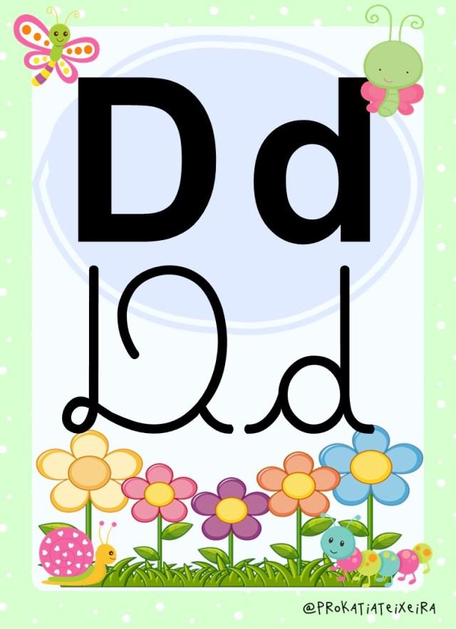 Alfabeto para imprimir 4 tipos de letras bichinhos de jardim 2