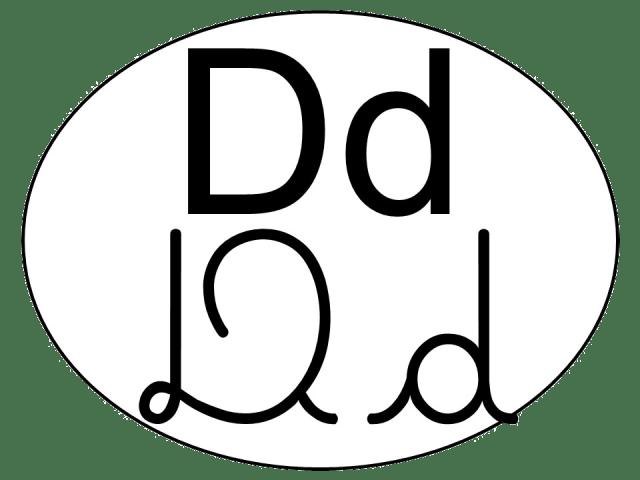 Alfabeto com 4 tipos de letras - Tags para alfabeto de parede