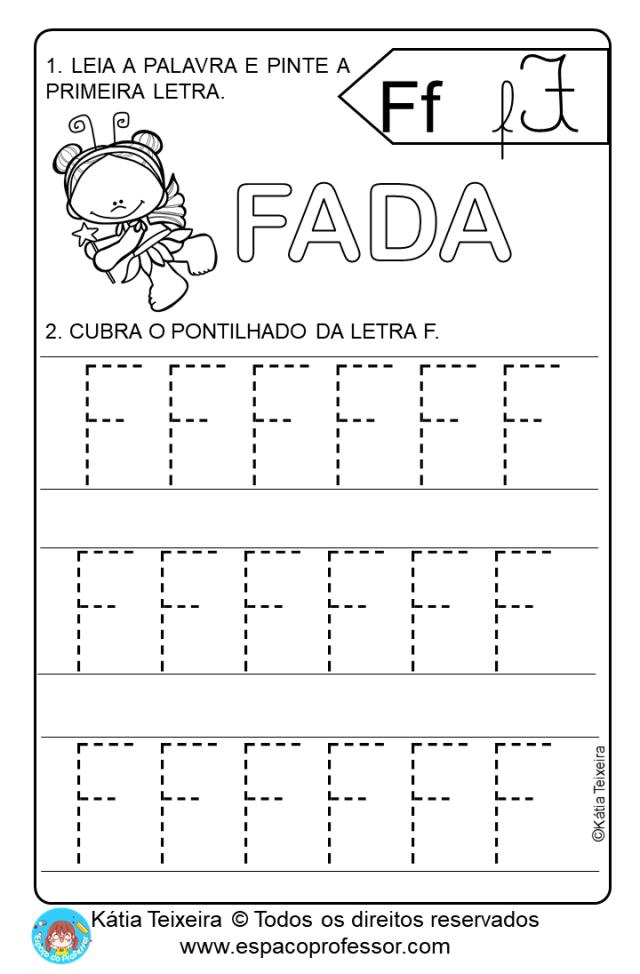 Pequeno texto com atividades Educação Infantil letra F  PDF