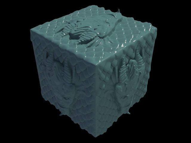 Resultado del cubo con el VDM aplicado.
