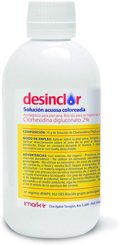 alcohol Desinclor Clorhexidina Aquosa Acolorida 2% antisèptic - 250 ml tap