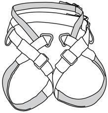 arnès espeleologia cintura