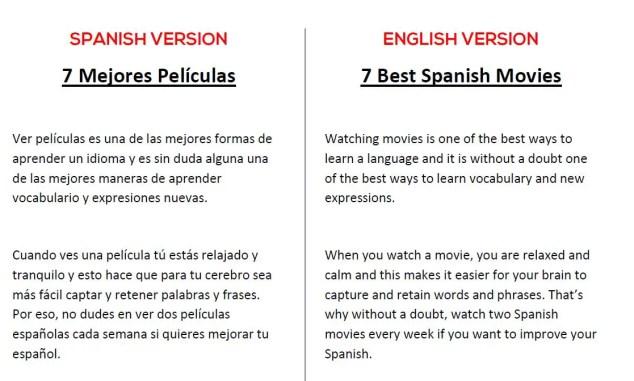 Spanish-English Movies