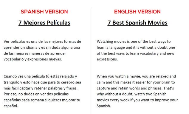 Spanish-English Movies