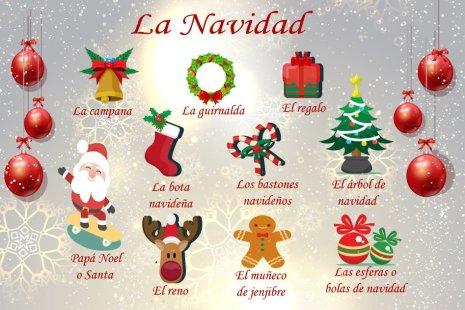Foto con los adornos de Navidad