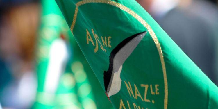 La bandiera degli alpini Ana