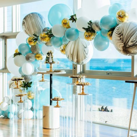 Color Theme Baby Shower Blue And Gold Especialz