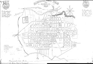 Plano General de la Ciudad de Morelia, 1884. Por Midas García de Carrasquedo.